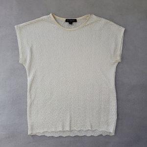 Ivory Blouse Short Sleeve
